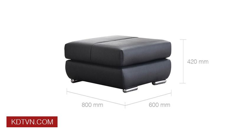 Kích thước đôn ghế sofa KD120