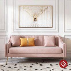 Mẫu sofa văng nỉ nhung KD037