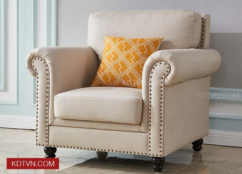 Sofa đơn tân cổ điển KD017