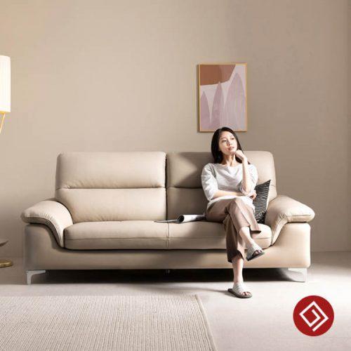 Sofa văng da 2 chỗ ngồi KD118