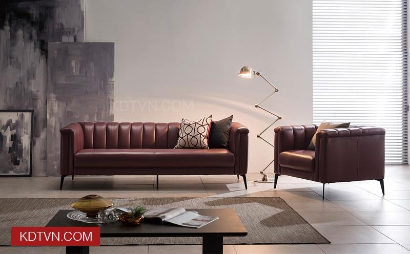 Sofa văng da đẹp KD124