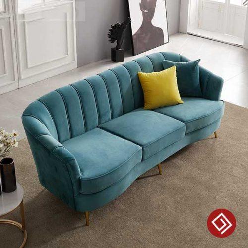 Sofa văng nỉ nhung đẹp KD020