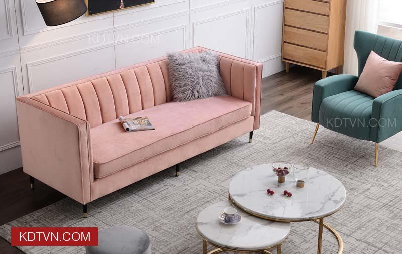 Sofa văng nỉ nhung đẹp KD018