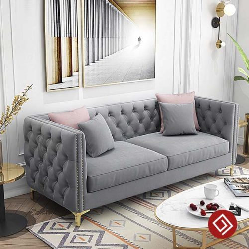 Sofa văng nỉ nhung cao cấp KD042