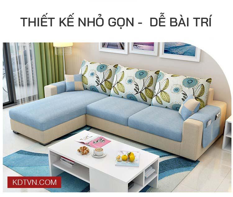 Sofa nỉ cho nhà nhỏ gọn