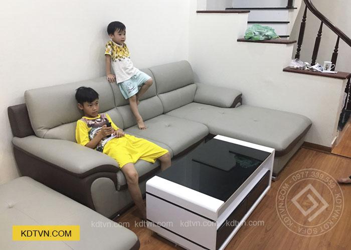 Sofa da đẹp cho nhà ống