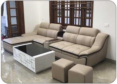 Ghế sofa da cao cấp cho nhà ống