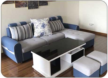 Sofa góc bọc nỉ