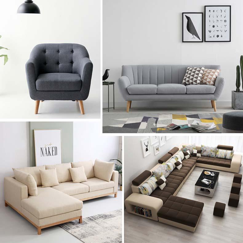 Chọn kiểu dáng sofa nỉ