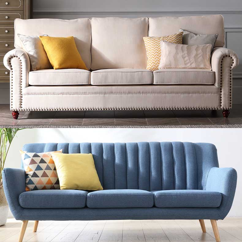 Phong cách thiết kế sofa nỉ