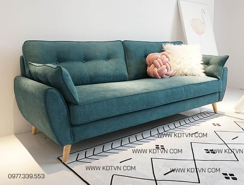 Mẫu sofa văng nỉ nhung