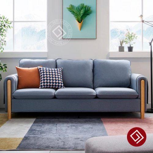 Sofa tay gỗ 3 chỗ ngồi KD048