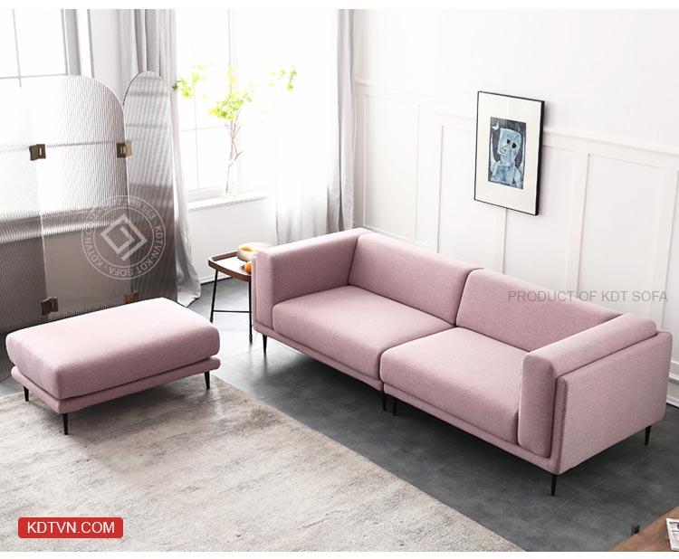 Sofa văng phòng khách màu hồng KD099