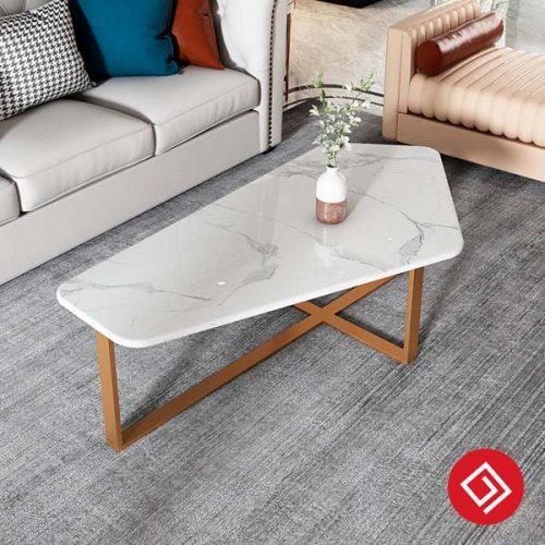 Bàn sofa khung sắt mặt đá B60