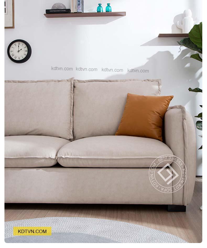 Sofa nỉ góc L hiện đại