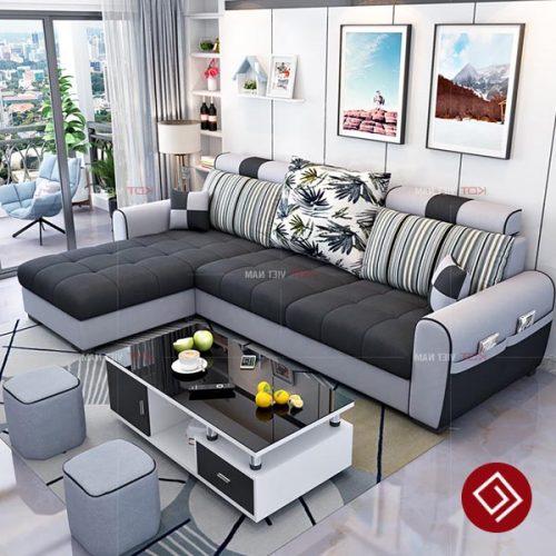 Sofa nỉ góc L hiện đại KD036