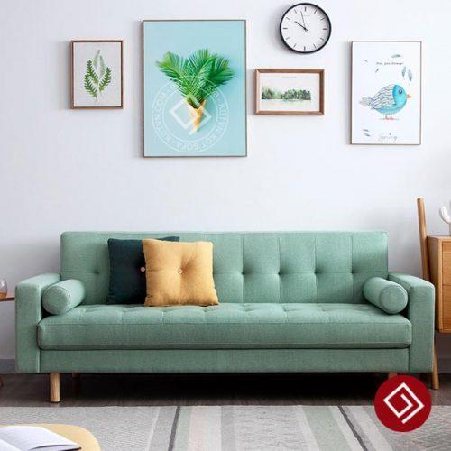 Sofa nỉ màu xanh bích ngọc KD051