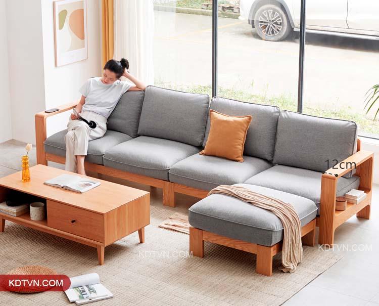 Bộ bàn ghế gỗ sồi nga cao cấp