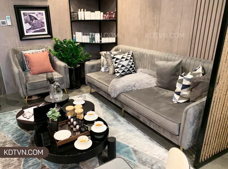 Mẫu ghế sofa nỉ nhung mềm mại