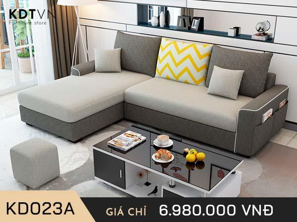 Sofa nỉ nhỏ giá rẻ KD023A
