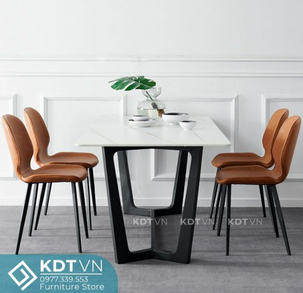 Bàn ăn 4 ghế mặt đá hiện đại