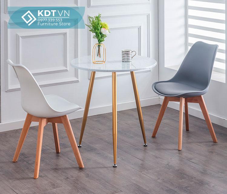 Ghế ăn nhựa chân gỗ